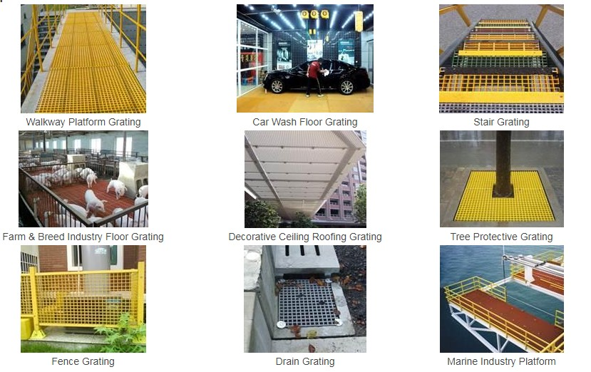 Application of FRP gratings